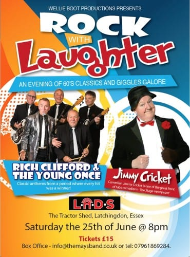 Jimmy Cricket is one of the acts in Rock With Laughter