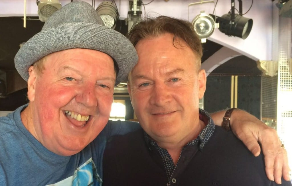 Jimmy Cricket with Emerald Isle owner Paul Moran