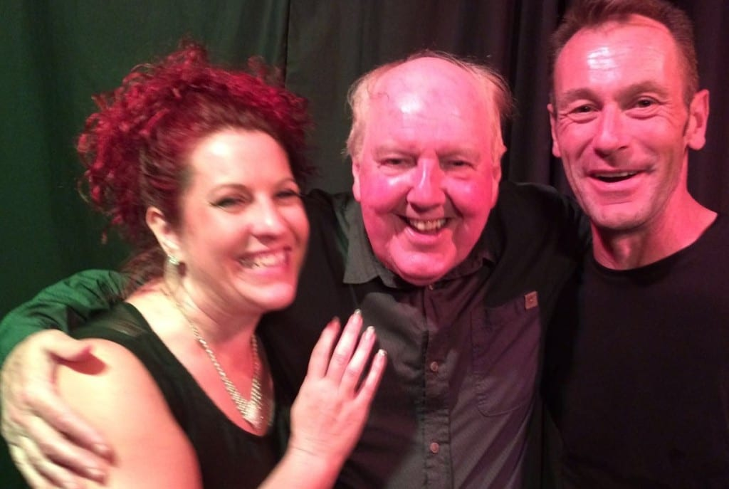 Jimmy Cricket with Carla and Mark