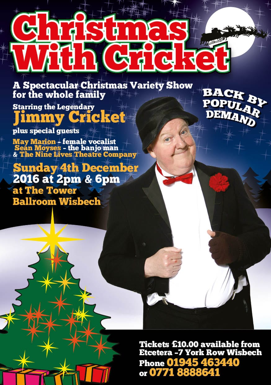 Christmas return to Wisbech for two shows | Jimmy Cricket