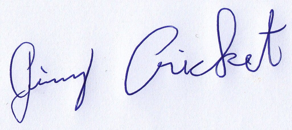 Jimmy Cricket's signature