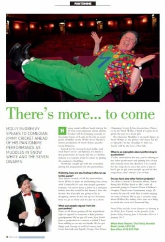 The article on Jimmy Cricket appeared in the Leeds-based Northside publication