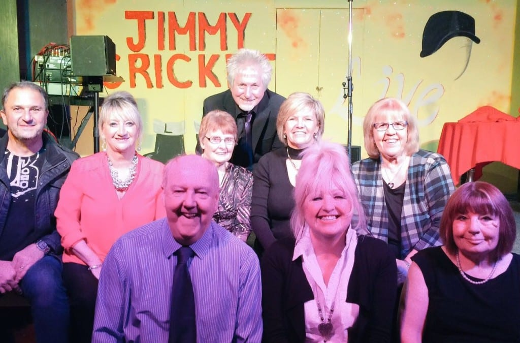 Jimmy Cricket with the St Mary's Parish Hall show organising committee