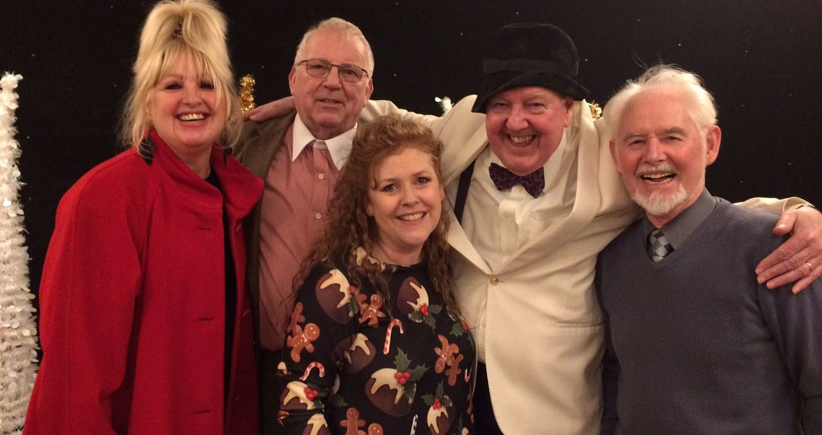 Jimmy Cricket and May Marion (Mrs Cricket) with friends in Wisbech