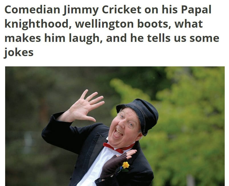 Potters Resort blog on Jimmy Cricket's career