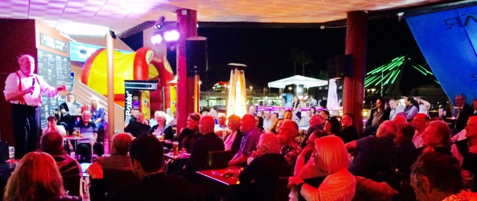 Jimmy Cricket performed at the Skybar in Tenerife