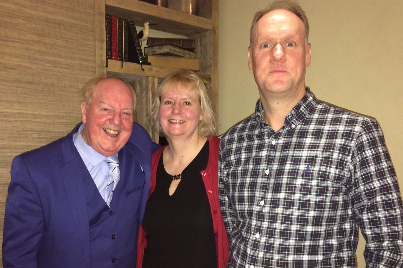 Jimmy Cricket with principal Equity event organisers, Louise Grainger and Michael Day