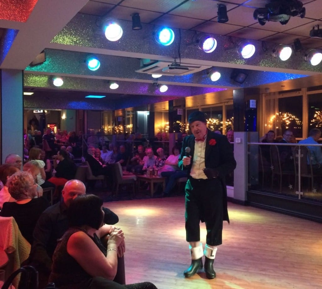 Jimmy Cricket performing at the Lyndene Hotel in Blackpool