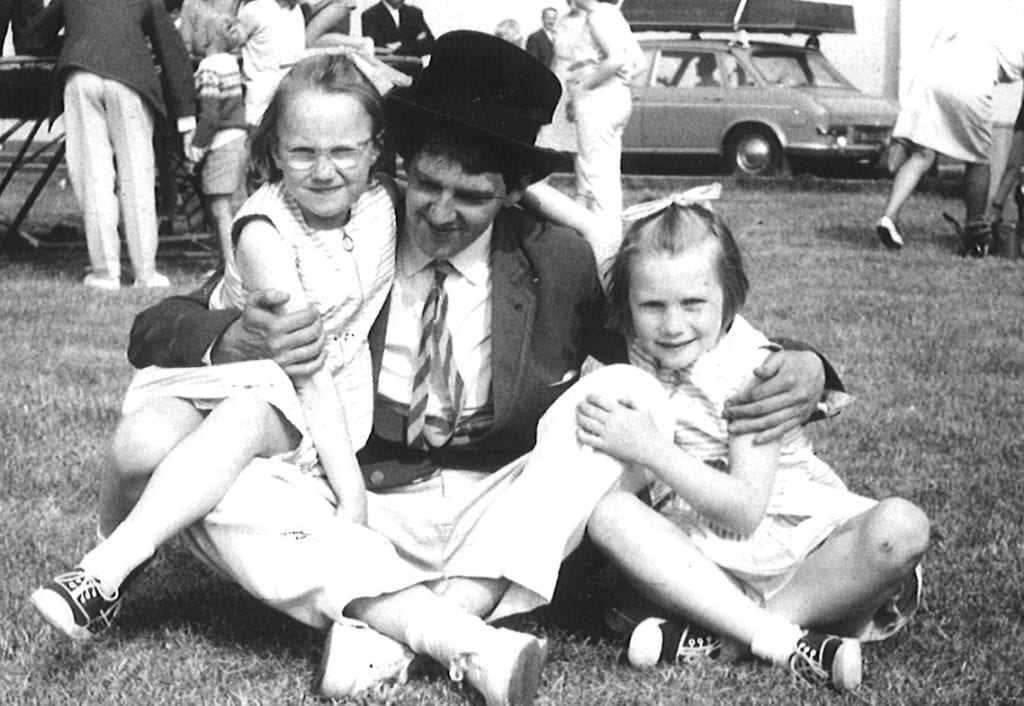 Butlins Redcoat Jimmy Cricket with Jill Bright and her sister Joy in 1968