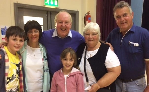 Jimmy Cricket and audience members