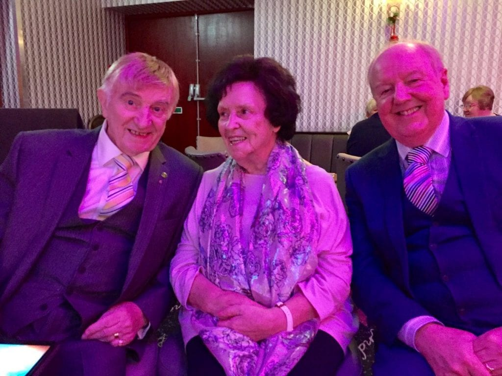 Jimmy Cricket with old friends Eric and Gloria