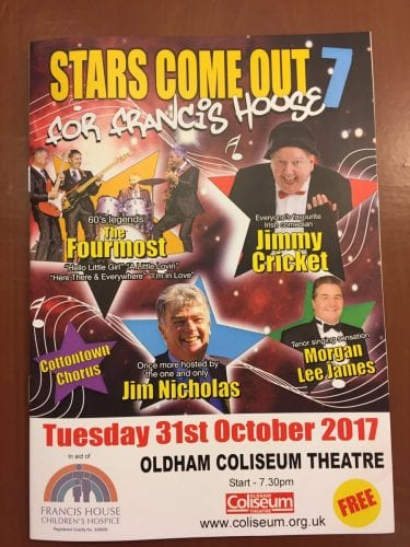 Show at the Coliseum in Oldham in aid of Francis House