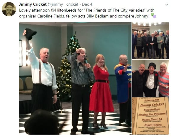Jimmy Cricket with Friends of City Varieties in Leeds