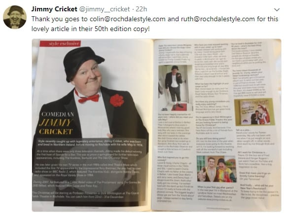 Jimmy Cricket appeared in the 50th edition of Rochdale Style