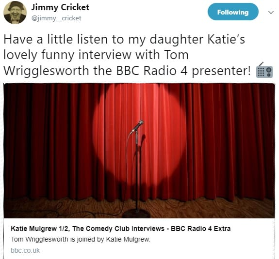 The best in contemporary comedy. Tom Wrigglesworth chats to Katie Mulgrew on BBC Radio 4 Extra