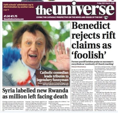 Jimmy Cricket talks about Sir Ken Dodd in the Catholic newspaper, The Universe