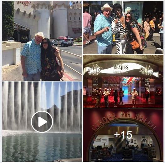 Jimmy Cricket and daughter Jamie in Las Vegas