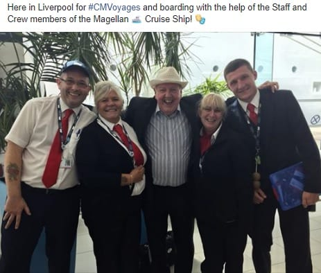 Jimmy Cricket is performing on the Magellan cruise ship