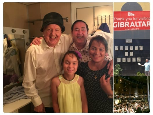 "Jimmy Cricket tweeted: ""Back on dry land and my thanks to one of the newer Cruise 🚢 Companies @CMVoyages for looking after us so well, here with fellow artist onboard Gary with his family!"""