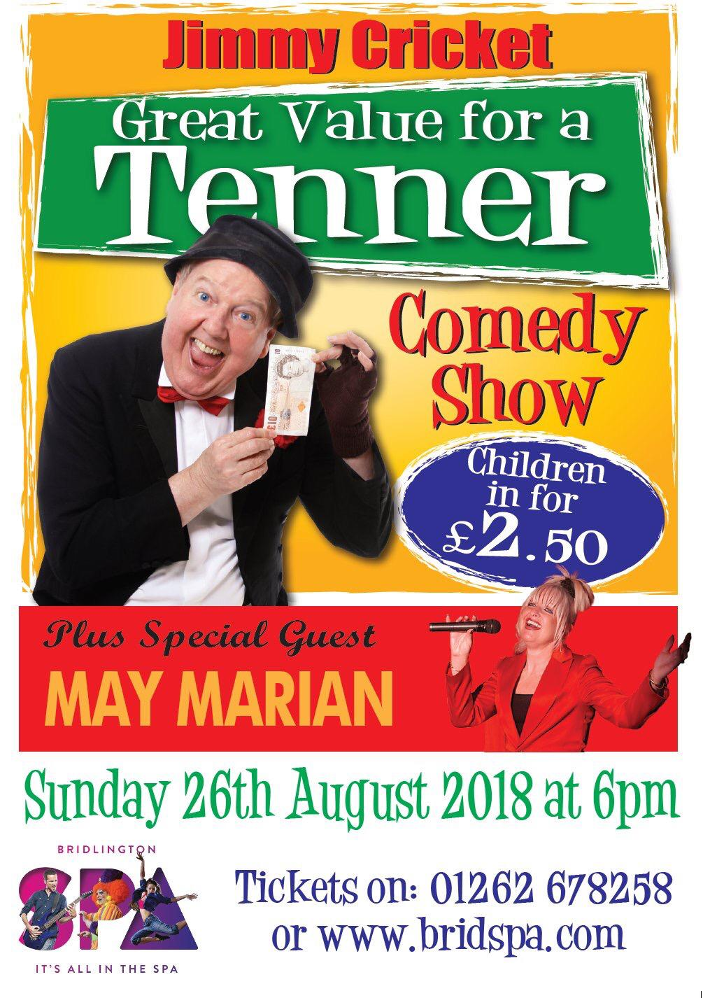 Jimmy Cricket is appearing at Bridlington Spa with his wife May Marian