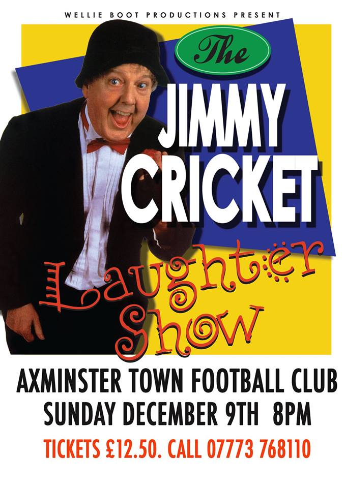 The Jimmy Cricket Laughter Show takes place on Sunday 9 December at 8pm