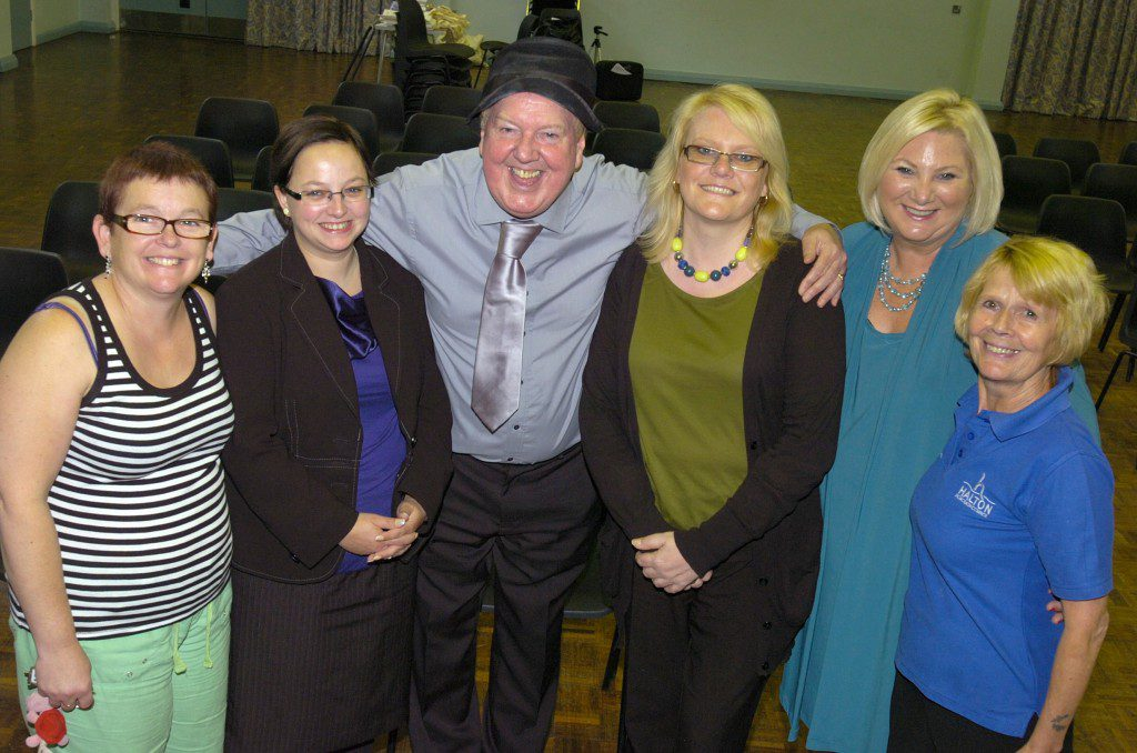"Jimmy Cricket and friends at the special ""wellbeing"" event in Widnes. Photo: Ian Park, Warrington Guardian"