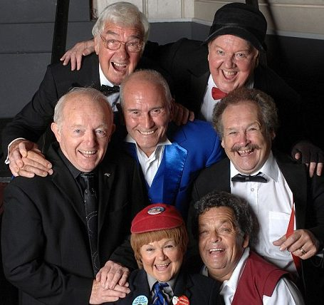 Top entertainers: Frank Carson with Jimmy Cricket, Paul Daniels, Cannon and Ball, and the Krankies