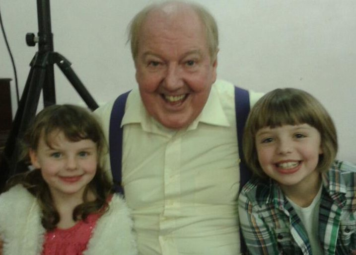 Comedian Jimmy Cricket with sisters Katie and Rebecca who attended his show at St Joseph's Parish Centre in Heywood