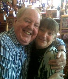 Jimmy Cricket with birthday girl Sandrea