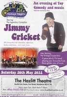 Poster for the show involving Jimmy Cricket and the Vintage Corporation Band