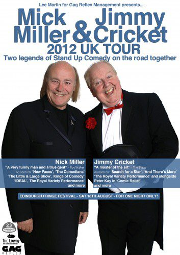 Comedy legends Mick Miller and Jimmy Cricket to team up in Darlington