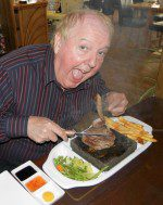 Jimmy enjoyed eating at the Wayside Cheer Hotel on Guernsey