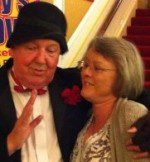 Jimmy Cricket and Jacqui Ridler