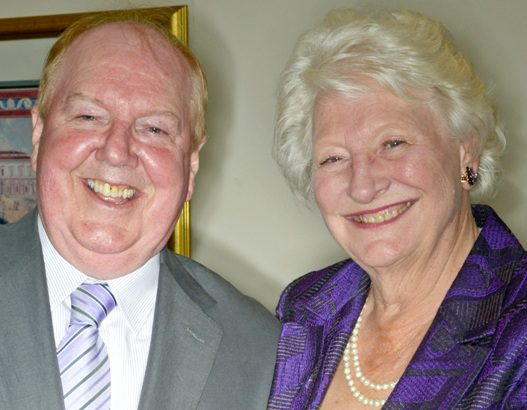 Jimmy Cricket and Dame Mary Peters in Southport