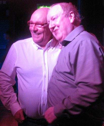 Jimmy Cricket and Mick Miller get ready for their show at the Ace Dome
