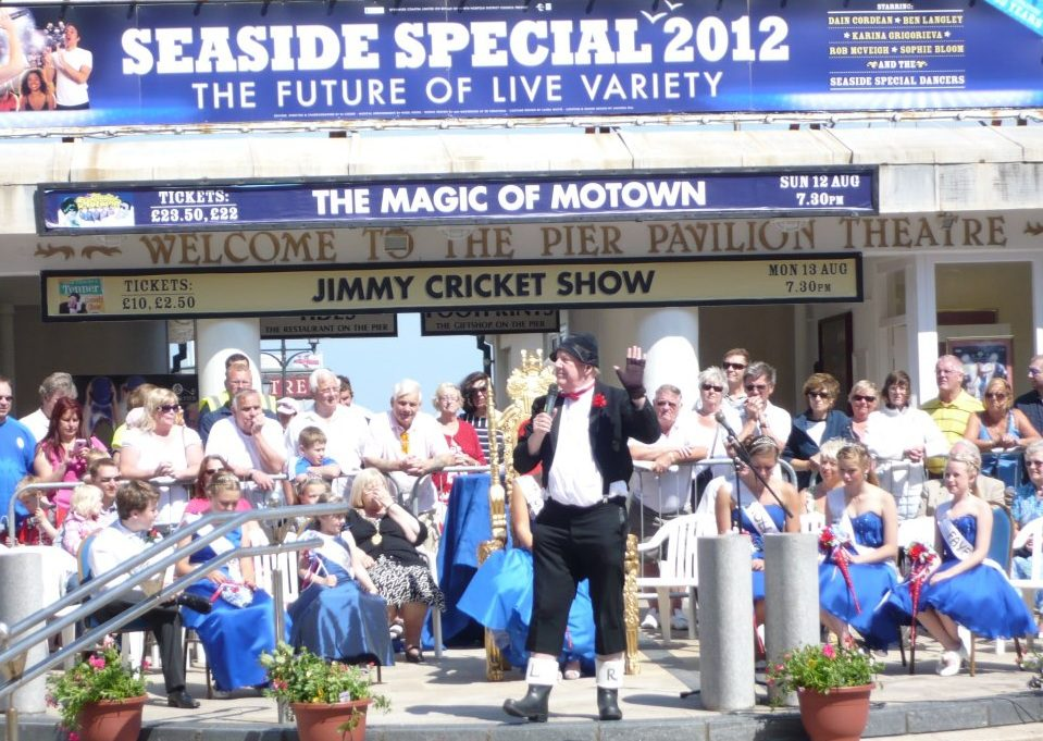 Jimmy performed at the pier theatre in Cromer