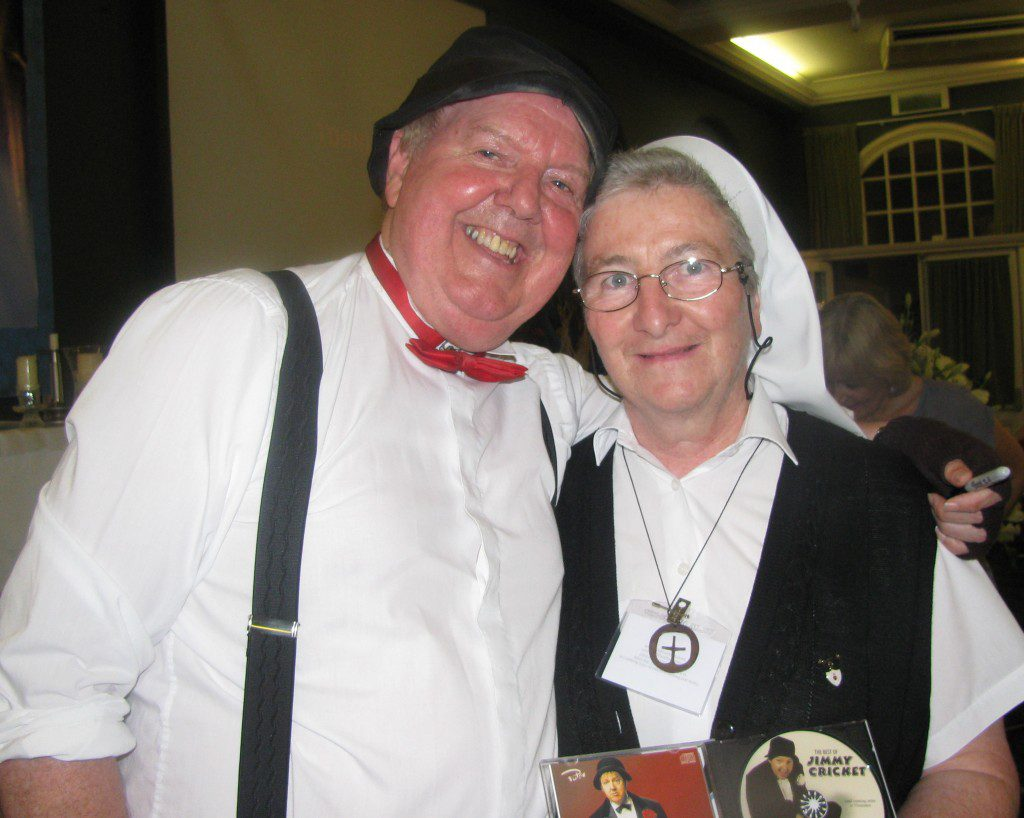 Jimmy with Sr Mary, a Palatine sister who has just returned from a mission in Africa