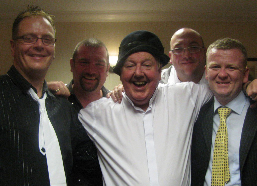 Jimmy and Kelvin (who is pictured far left) singers Big D and Micky Diamond and host Ryan Dollard