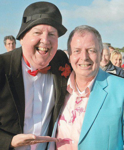 Famous funnyman Jimmy Cricket met professional organist Chris Mannion in Eastbourne