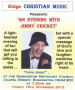 Jimmy Cricket appeared at the Ruskington Methodist Church