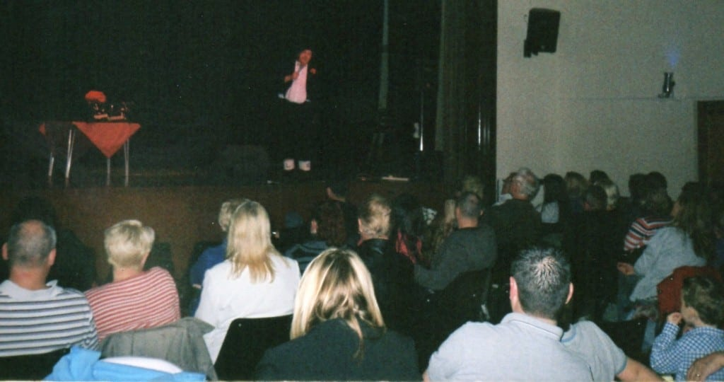 Jimmy Cricket performing at a show for the David Whitfield Commemorative Society