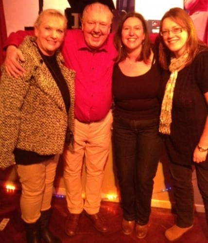 Jimmy Cricket with members of the audience at the Pensford Memorial Hall
