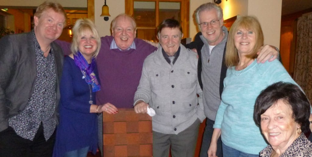 Jimmy Cricket with Phil, May, Eric, Tony, Linda and Gloria