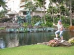 Jimmy Cricket outside the nearby Hilton Hotel in Waikiki in Honolulu