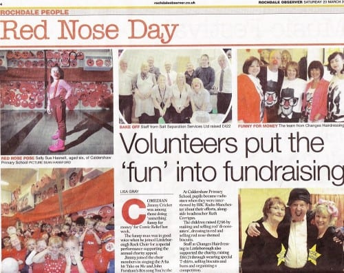 The Rochdale Observer's coverage of Red Nose Day