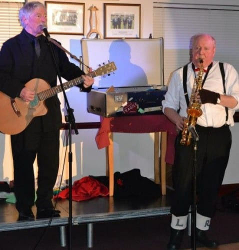 Jimmy Cricket and Clive Abbot  performing