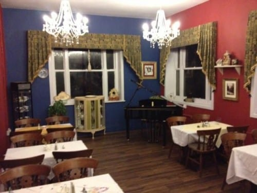 The redecorated tea room at the visitor centre