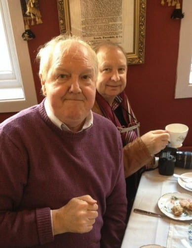 Jimmy with the Rochdale-based actor Colin Meredith, who recently appeared on Coronation Street