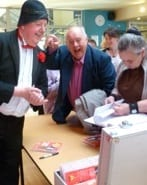 Jimmy Cricket meets some of the audience at the Music Hall Show in King's Lynn
