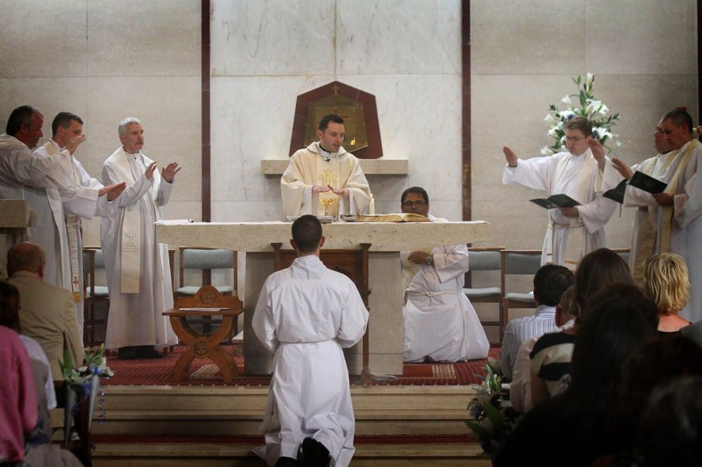 Fr Frankie Mulgrew celebrates his first Mass